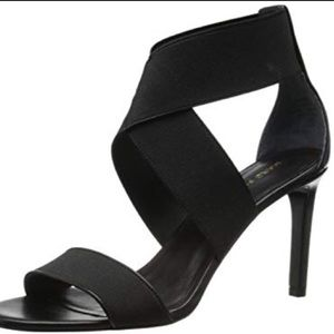 Marc Fisher Leather Brooke all black heel